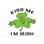 Kiss Me I'm Irish Gift Post Card