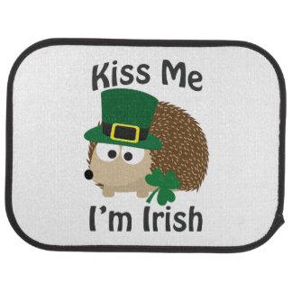 Kiss Me I'm Irish Hedgehog Car Mat