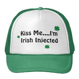 Kiss Me....I'm Irish Injected Trucker Hat