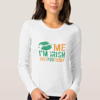 Kiss Me I'm Irish Just For Today Tee Shirt