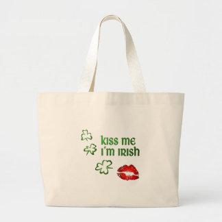 Kiss Me I'm Irish Large Tote Bag