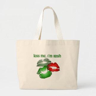 Kiss Me, I'm Irish Large Tote Bag