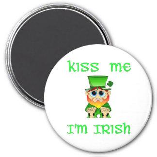 Kiss Me Im Irish ~ Lil Blarney 3 Inch Round Magnet