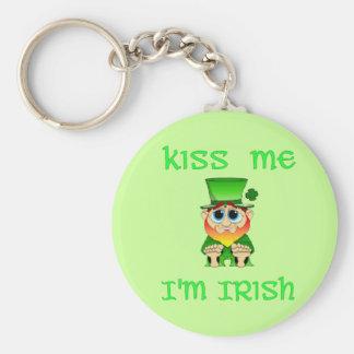 Kiss Me Im Irish ~ Lil Blarney Basic Round Button Keychain