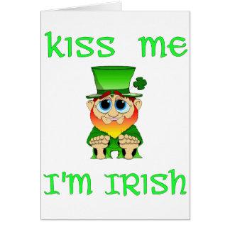 Kiss Me Im Irish ~ Lil Blarney Card
