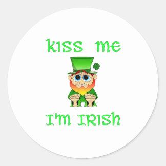 Kiss Me Im Irish ~ Lil Blarney Classic Round Sticker