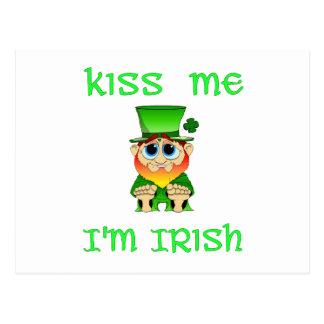 Kiss Me Im Irish ~ Lil Blarney Postcard