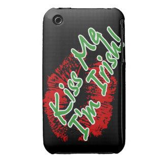Kiss Me I'm Irish Lips iPhone 3 case