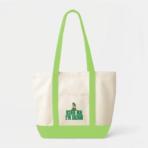 Kiss Me I'm Irish Little Leprechaun Impulse Tote Bag