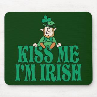 Kiss Me I'm Irish Little Leprechaun Mouse Pad
