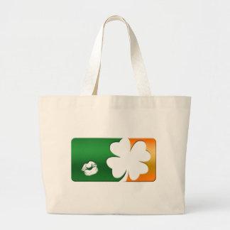 Kiss Me I'm Irish Logo Large Tote Bag