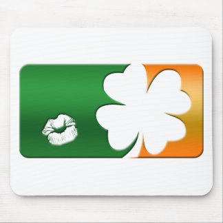 Kiss Me I'm Irish Logo Mouse Pad