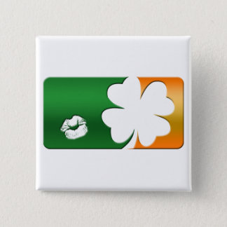 Kiss Me I'm Irish Logo Pinback Button