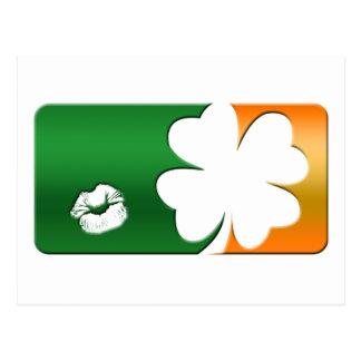 Kiss Me I'm Irish Logo Postcard