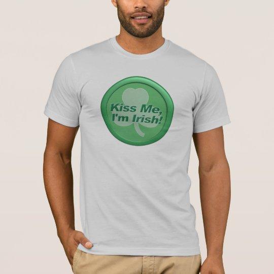 Kiss Me I'm Irish Mens T-Shirt