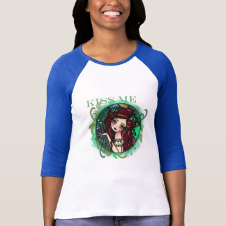 KISS ME I'm Irish Mermaid Fantasy Art T-Shirt
