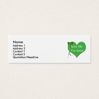 Kiss Me Im Irish Mini Business Card