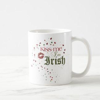 Kiss me Im irish Classic White Coffee Mug
