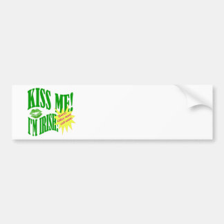 kiss me I'm Irish, offer ends soon Car Bumper Sticker