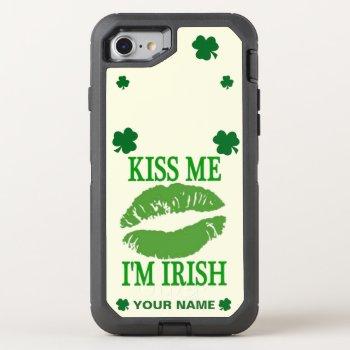 KISS ME I'M IRISH OtterBox DEFENDER iPhone 7 CASE