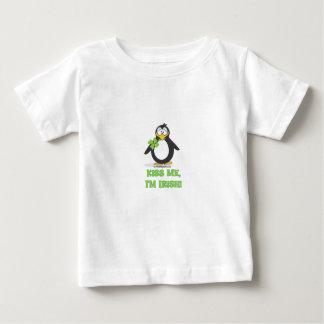 Kiss Me, I'm Irish Penguin Baby T-Shirt