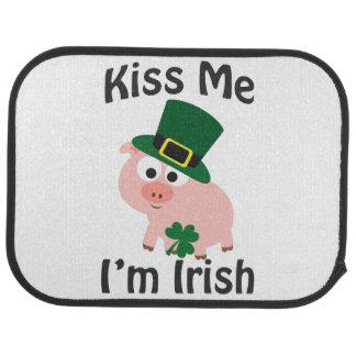 Kiss Me I'm Irish Pig Car Mat