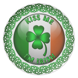 Kiss Me I'm Irish Plate