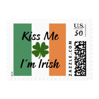 Kiss Me, I'm Irish Postage Stamp, St Patrick's Day