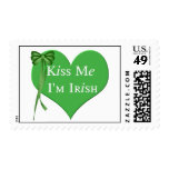Kiss Me Im Irish Postage Stamps