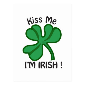 Kiss Me, Im Irish! Postcard