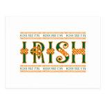 Kiss Me I'm Irish Postcard