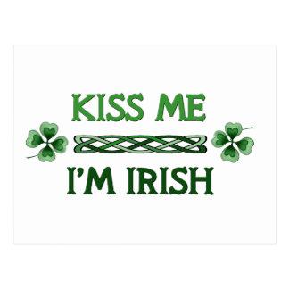 Kiss Me, I'm Irish Postcard