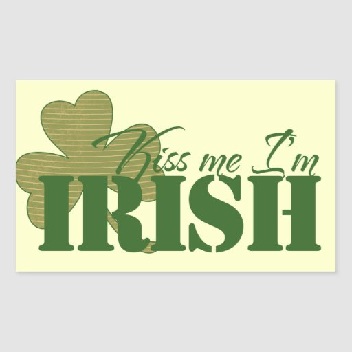 Kiss me I'm Irish Rectangle Stickers