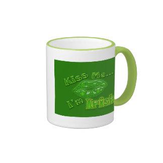 Kiss..me..I'm.,.irish Ringer Mug