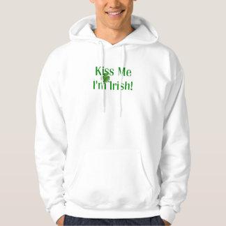 Kiss Me I'm Irish Shamrock Hoodie