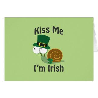 Kiss Me I'm Irish Snail Cards