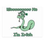 Kiss Me I'm Irish Snake Post Cards