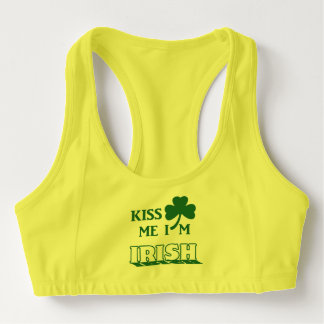 Kiss me I'm Irish Sports Bra
