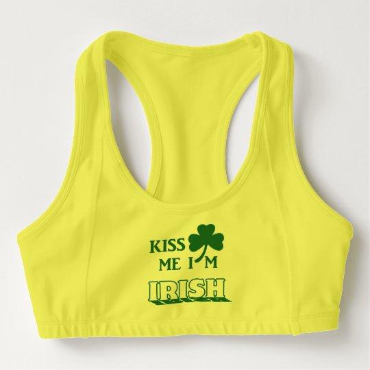 2ce075b24a9 Kiss me I m Irish Sports Bra