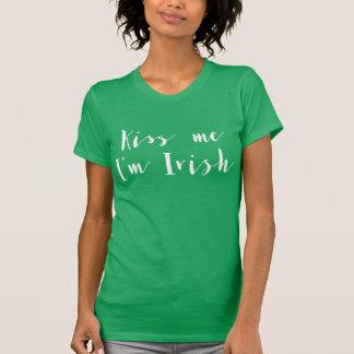 Kiss Me Im Irish St.Patrick Green Womens T-Shirt