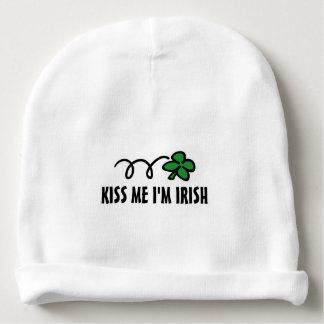 KISS ME I'M IRISH St Patricks Day baby beanie hats