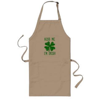 KISS ME IM IRISH St Patricks Day BBQ kitchen apron
