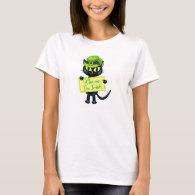 Kiss me, I'm Irish! - St. Patricks Day Cat T-Shirt