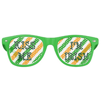 Kiss me im Irish St Patricks Day fun party shades