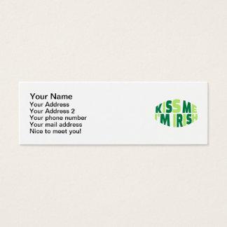Kiss me I'm Irish St. Patrick's day Mini Business Card