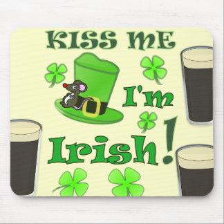 Kiss Me I'm Irish - St Patricks Day Mouse Pad