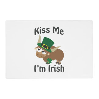 Kiss Me Im Irish St Patricks Day Yak Placemat