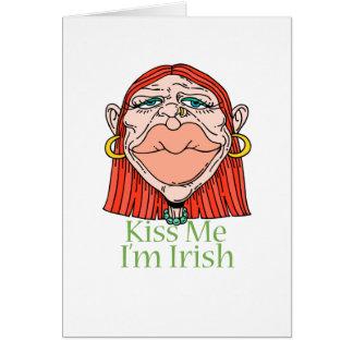 Kiss Me I'm Irish Stationery Note Card