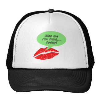 Kiss Me I'm Irish Today Mesh Hats