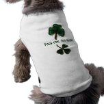 Kiss me, I'm Irish, vintage shamrock print tee Doggie T-shirt
